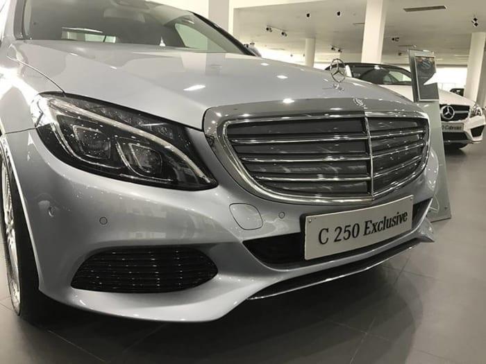 Mercedes C250 Exclusive gầm xe