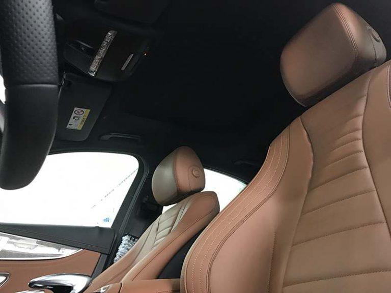 mercedes e300 hệ thống ghế sau