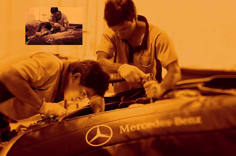 thợ bảo trì xe mercedes