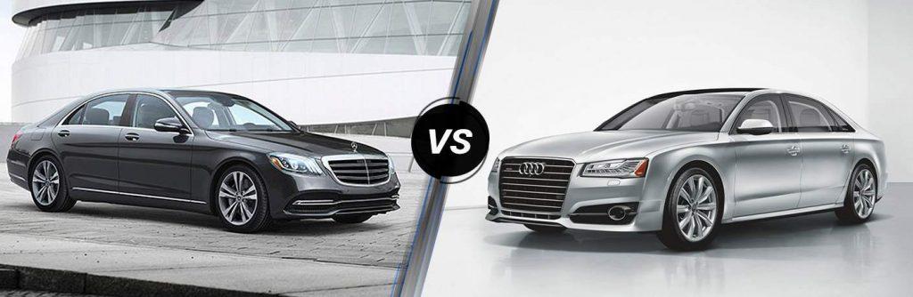 So sánh mercedes-benz s450 4matic với Audi A8 phiên bản 2019