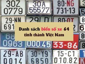 Biển số xe cả nước Việt nam
