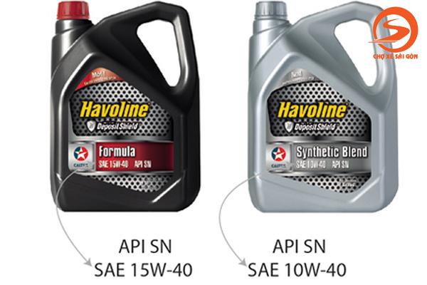 Chỉ số API trên dầu nhớt xe ô tô
